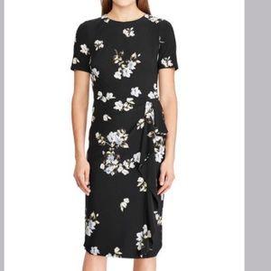Lauren Ralph Lauren NWT black floral dress